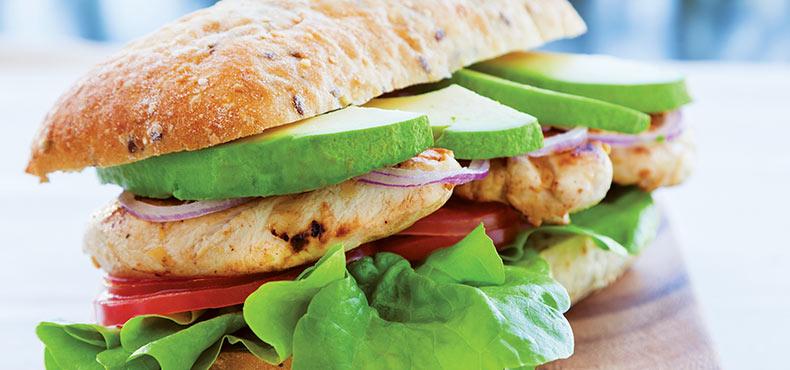 Avocado & Chicken Sandwich