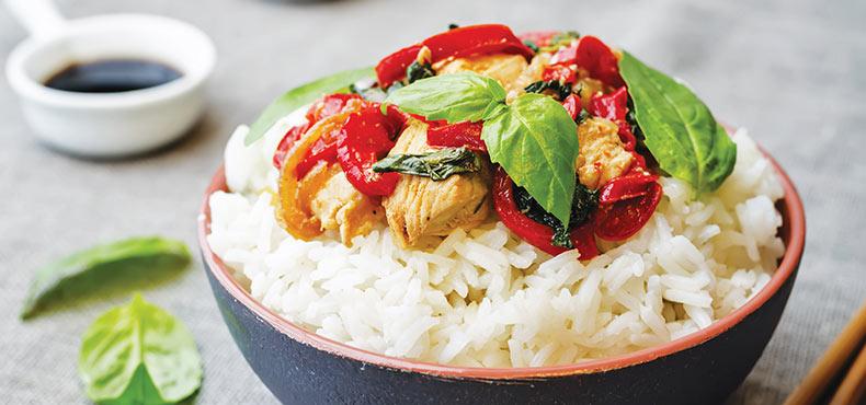 Basil Chicken Stir Fry