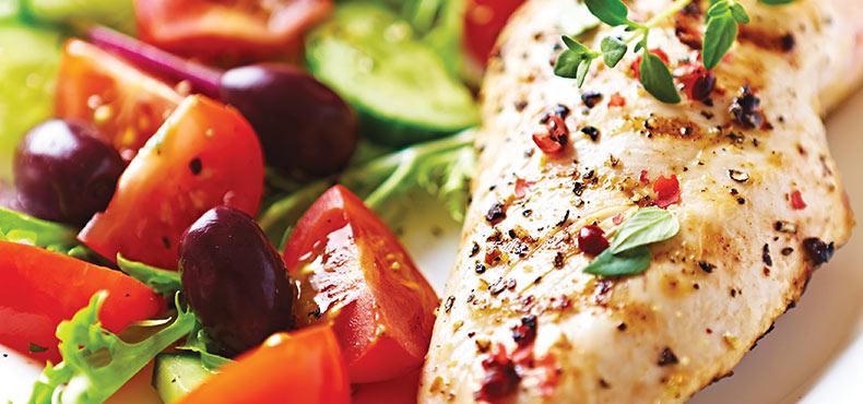 Grilled Chicken & Greek Salad