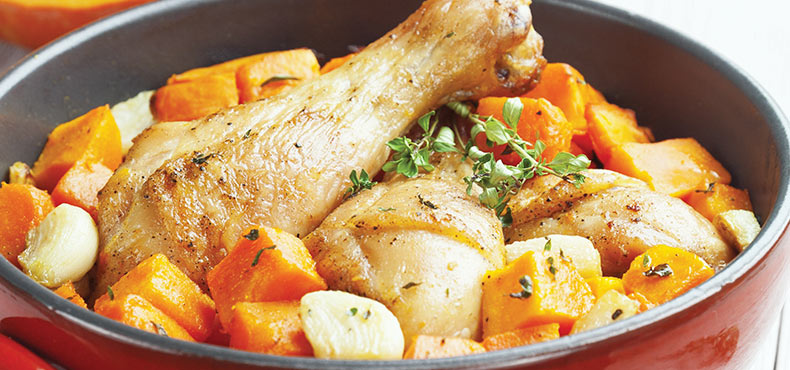 Roast Chicken with Pumpkin