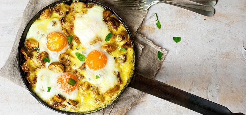 Egg & Mushroom Bake